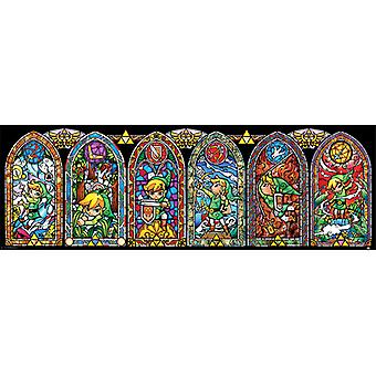 Zelda Stained Glass Slim Poster