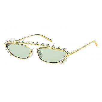 Solbriller Kvinners gull / grønne fargede steiner