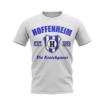 Hoffenheim Perustettu Jalkapallo T-paita (Valkoinen)
