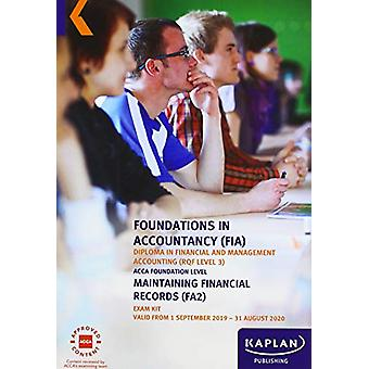 MAINTAINING FINANCIAL RECORDS - EXAM KIT by KAPLAN PUBLISHING - 97817