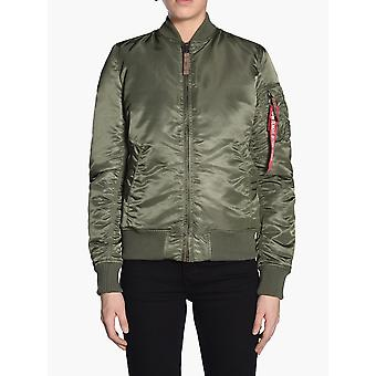 Alpha Industries Ezcr026005 Donna's Giacca in nylon verde