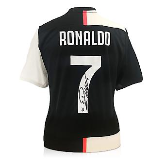 Cristiano Ronaldo Signeret Juventus Fodbold shirt 2019-20