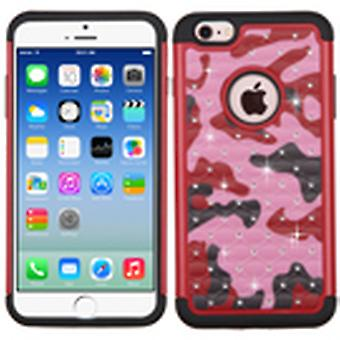 Custodia Asmyna FullStar Protector per Apple iPhone 6/6S - Red Camo/Black
