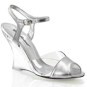 Fabulicious Mujeres's Zapatos LOVELY-442 Clr-Slv Metal Pu/Clr