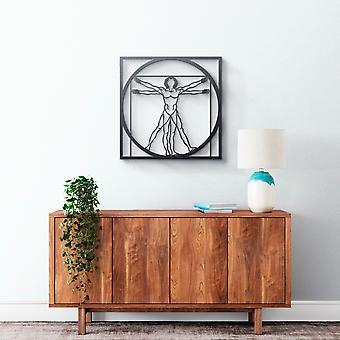 Metallwandkunst - Vinci Human