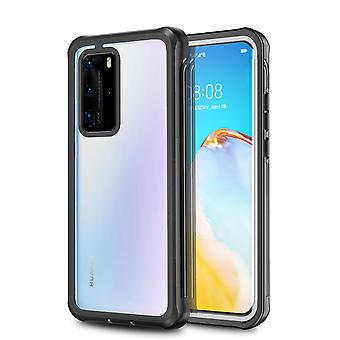 Shock-resistant shell with screen protector - Huawei P40 Pro black/grey