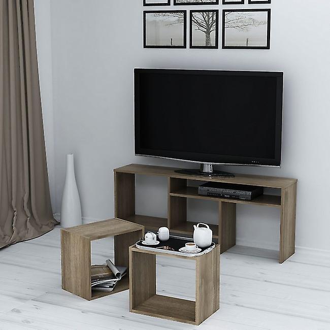 Mobile Porta TV Kasa Colore Noce in Truciolare Melaminico, L141xP29,5xA57cm