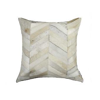 "18"" x 18"" x 5"" Enchanting Natural Torino Kobe Cowhide - Pillow"