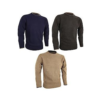 JACK PYKE 100% Lambswool Crew Neck Knitted Jumper