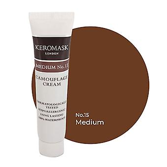 Keromask Full Cover Concealer Medium No 15 | Waterproof Camouflage Makeup | Hypoallergenic | 15ml