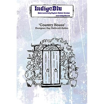 """IndigoBlu Cling Mounted Stamp 5""""X4""""-Country House"""