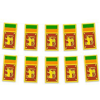 Sri Lanka Bunting 5m Polyester Fabric Cricket Sport Country