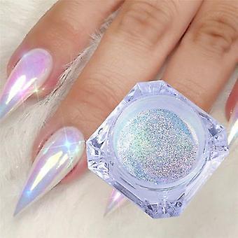 Glitter Ultra-tynde Enhjørning Mirror Nail Pulver