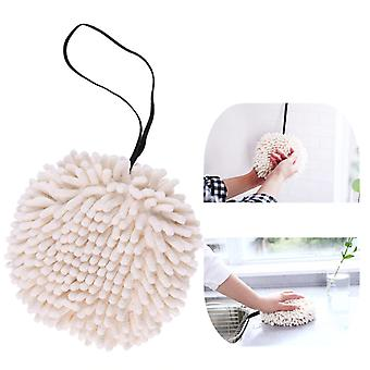 Soft Chenille Ball Shaped Bacteriostatic Wipe Hanging Towel