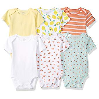 Essentials Baby 6-Pack Kurzarm Body, Mädchen Obst, Neugeborene
