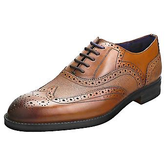 Ted Baker Almhano Mens Brogue Shoes in Tan