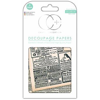 Craft Consortium Going to Press Decoupage Papers