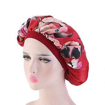 Soft Silk Satin Night Sleep Cap, Comfortable Head Cover