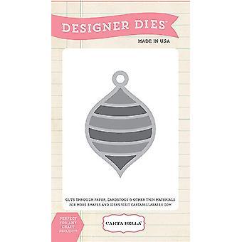 Morre o designer de ornamentos listrados carta Bella