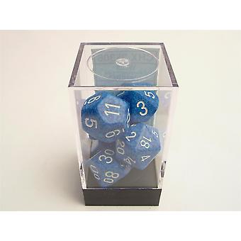 Chessex Speckled Polydice Set of 7 Dice - Water