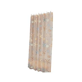 Modern Shower Curtain Starfish Partition Fresh Seaside Style Waterproof Mildew
