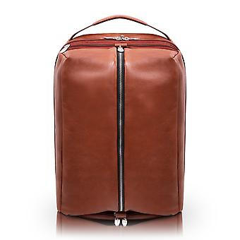 """18884, U Series, South Shore 17"""" Leather, Carry-All, Laptop & Tablet Overnight Backpack - Brown"""