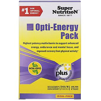 Super Nutrition, Opti-Energy Pack, Multivitamin/Mineral Supplement, Iron-Free, 3
