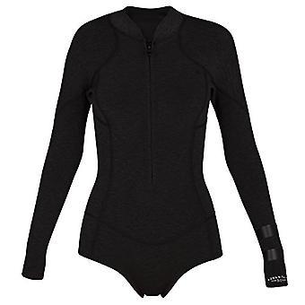 Hurley Women's Advantage Plus Neoprene Spring Suit Wetsuit, Black, 4