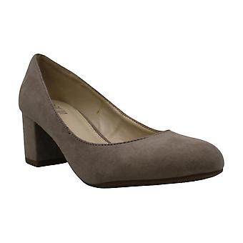 bar III Petunia Block-Heel Pumps Grey 5M