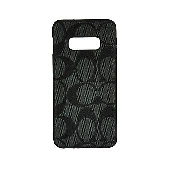 Funda de teléfono a prueba de golpes Cubierta Monogram GG Para Samsung S10(5G) (Gris Oscuro)