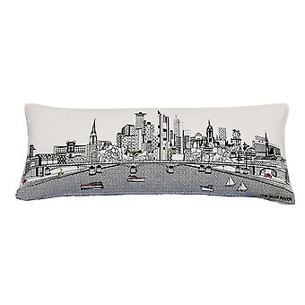Francfort Pictorial Print Skyline Contemporary Wool Day/Night Cushion