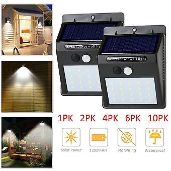 Led Waterproof Solar Sensor Light, Motion Wall Outdoor Garden Yard Streets Lamp