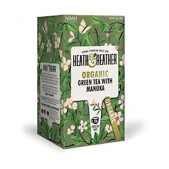 هيث & هيذر-الشاي الأخضر العضوي & أكياس Manuka العسل 20