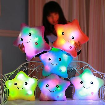 40 * 35cm כוכבים זוהרים כרית קטיפה לילדים מתנת יום הולדת ילדים צבעוני הוביל אור