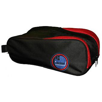 Bowling bag in black red for bowling shoes and bowling accessories by Bowlio