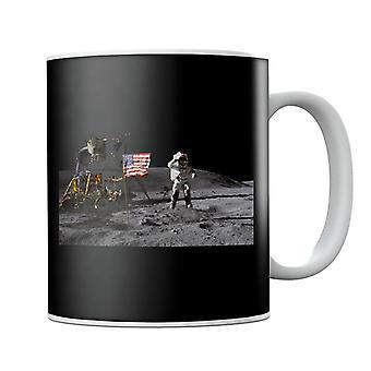 NASA John Young Moon Landing Salute Mug