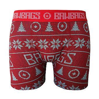 Bawbags Xmas Boxer Shortsit - Punainen