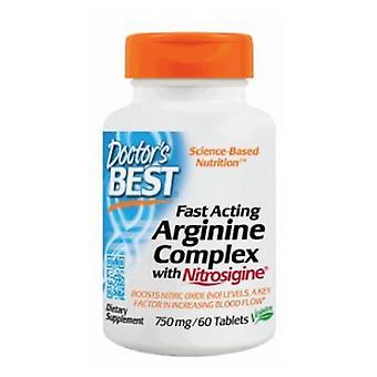 Doctors Best Fast Acting Arginine Complex with Nitrosigine, 750 mg, 60 Tabs