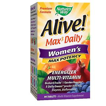 Natur's Way Alive Kvinner's Multi-Vitamin, Kvinner 90 Faner