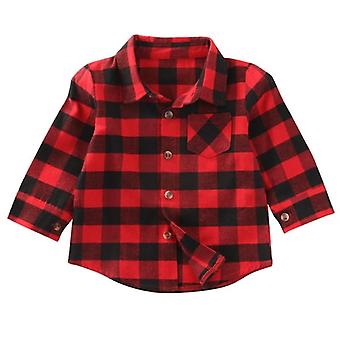 Newborn Unisex Clothes, Shirt Long Sleeve, Plaid Shirts