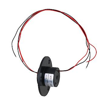 220V Black 2 Wires 1.5A Through Bore Slip Ring for Rotate Work Platforms