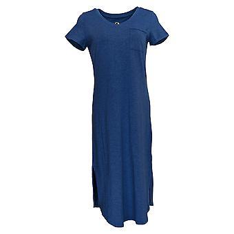 C. Wonder Dress Essentials Slub Knit Midi Heather Indigo Blue A289778