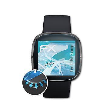 atFoliX 3x فيلم واقية متوافقة مع Fitbit استشعار شاشة حامية واضحة ومرنة