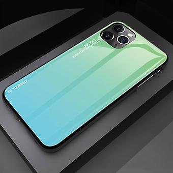 Stoff zertifiziert® iPhone 11 Pro Case Gradient - TPU und 9H Glas - stoßfest glänzende Fall Abdeckung Cas TPU grün