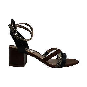Steve Madden Women's Shoes Reagan Leather Open Toe Casual Ankle Strap Sandals