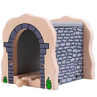 Bigjigs Grå Sten Tunnel træ tog sæt tilbehør