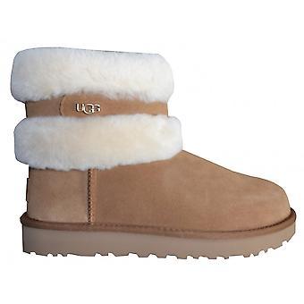 UGG Footwear UGG Women's Fluff Mini Belted Chestnut Boots