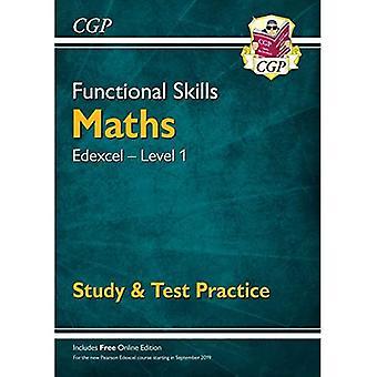 Novas habilidades funcionais Edexcel Math Level 1-estudo & prática de teste (com edição online)