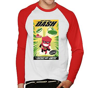 Pixar The Incredibles Dash The Faster Kid On Earth Men's Baseball Long Sleeved T-Shirt