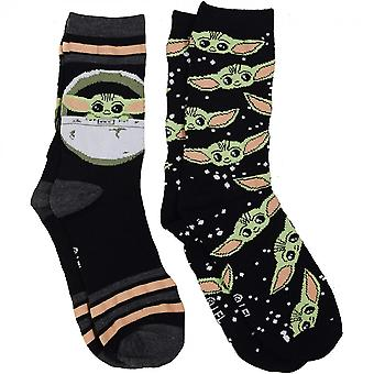 Star Wars The Mandalorian 2-Pair Pack of The Child Women's Crew Socks